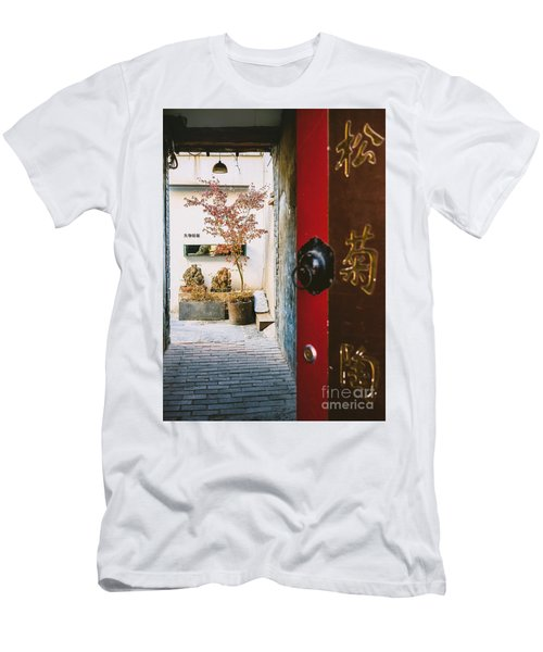 Fangija Hutong In Beijing Men's T-Shirt (Athletic Fit)