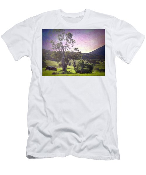 Men's T-Shirt (Athletic Fit) featuring the photograph Farm Scene by Alison Frank