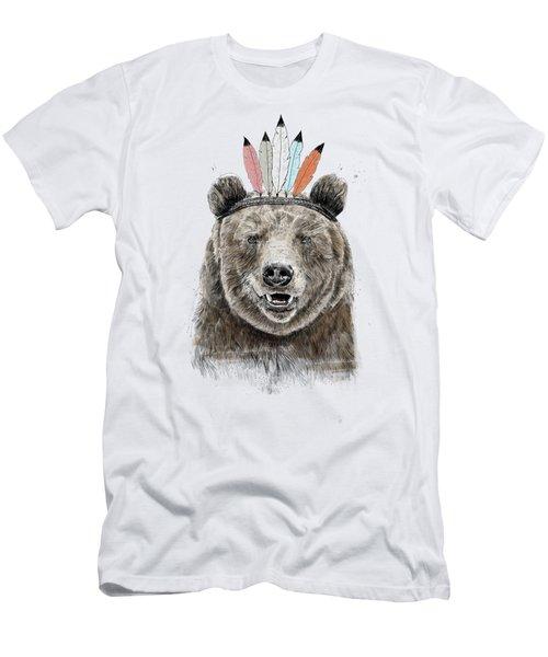 Festival Bear Men's T-Shirt (Athletic Fit)