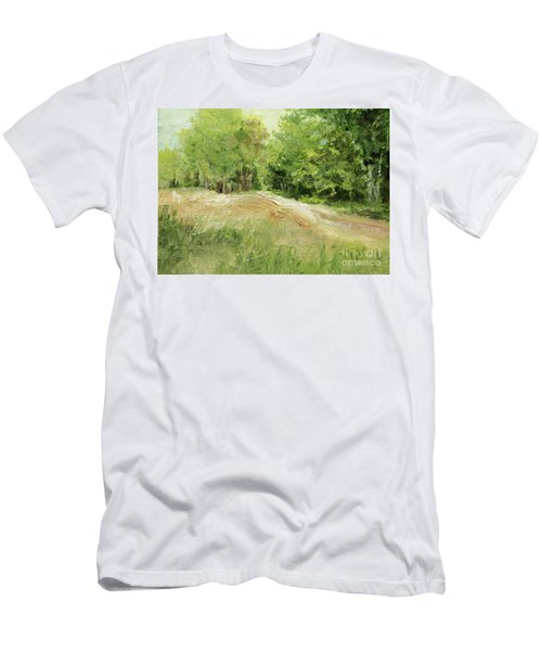 Woodland Trees And Dirt Road Men's T-Shirt (Athletic Fit)