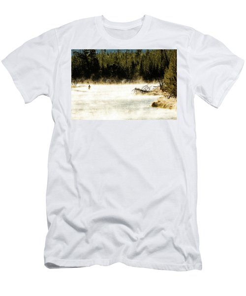 Men's T-Shirt (Athletic Fit) featuring the photograph First Fish by Pete Federico