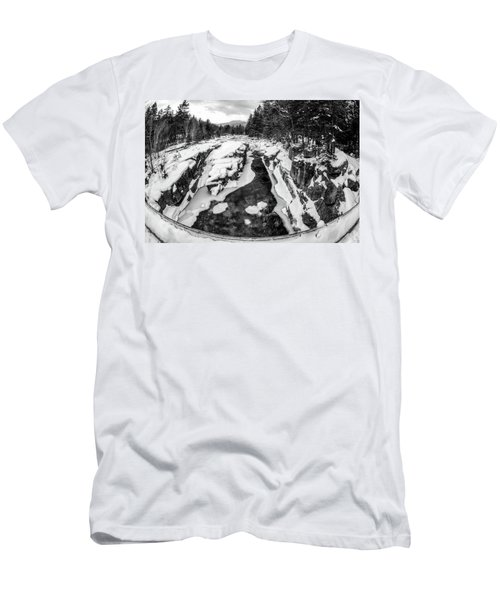 Men's T-Shirt (Athletic Fit) featuring the photograph Fisheye View, Rocky Gorge Nh by Michael Hubley