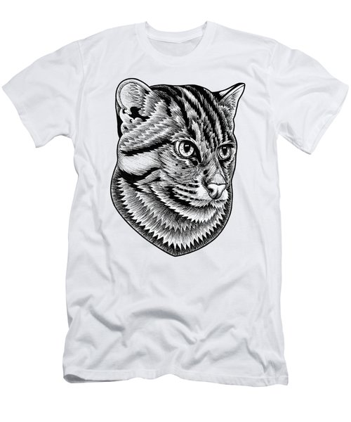 Fishing Cat  Ink Illustration Men's T-Shirt (Athletic Fit)