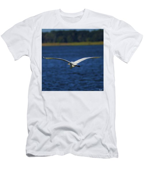 Flight Of The Egret Men's T-Shirt (Athletic Fit)