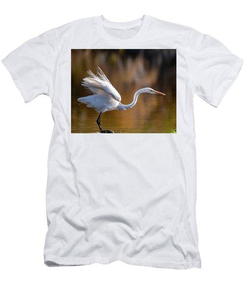 Floofy Egret Men's T-Shirt (Athletic Fit)