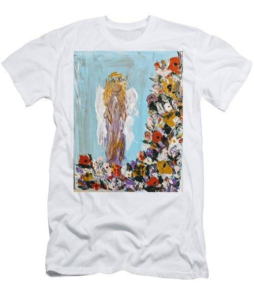 Flower Child Angel Men's T-Shirt (Athletic Fit)