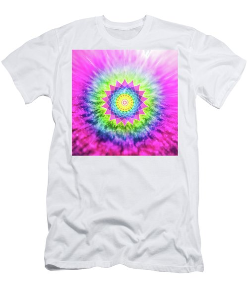 Flowering Mandala Men's T-Shirt (Athletic Fit)