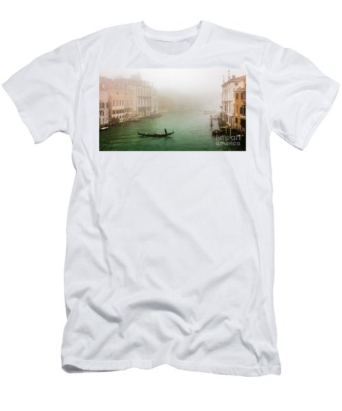 Foggy Morning On The Grand Canale, Venezia, Italy Men's T-Shirt (Athletic Fit)
