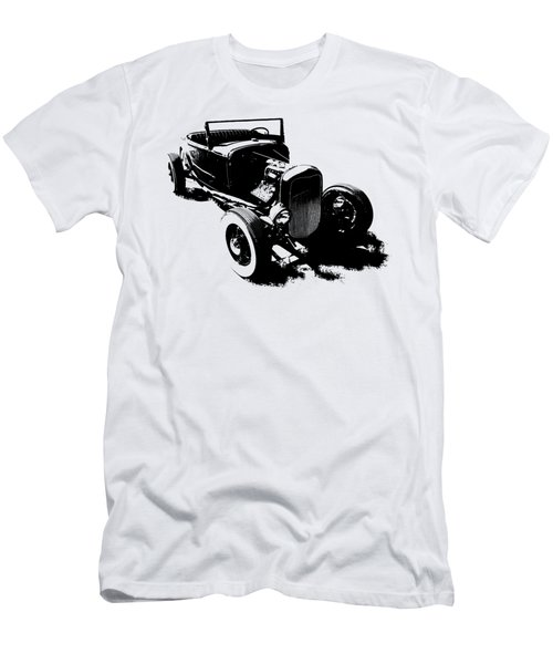 Ford Flathead Roadster Two Blk Men's T-Shirt (Athletic Fit)