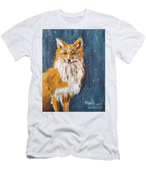 Fox Winter Night Men's T-Shirt (Athletic Fit)