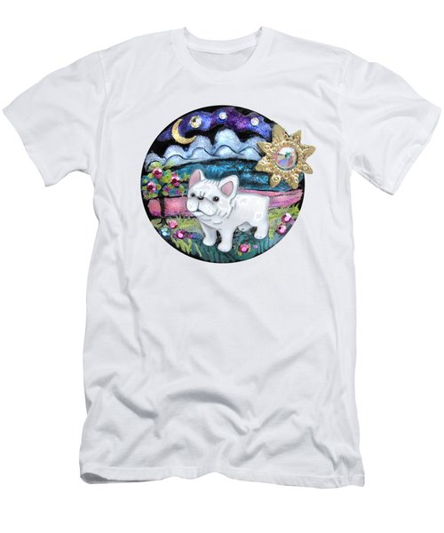 French Bull Dog Puppy Jewelry Art Men's T-Shirt (Athletic Fit)