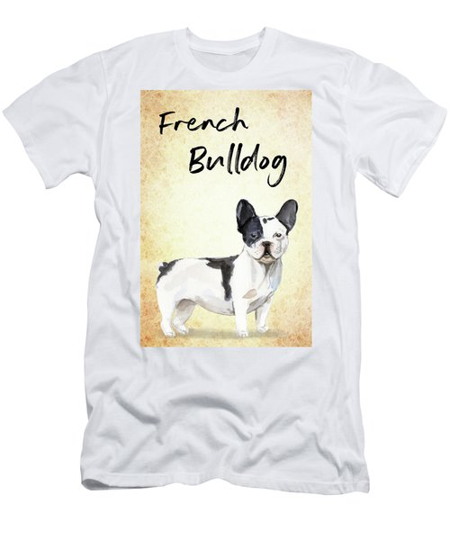 Men's T-Shirt (Athletic Fit) featuring the painting French Bulldog by Matthias Hauser