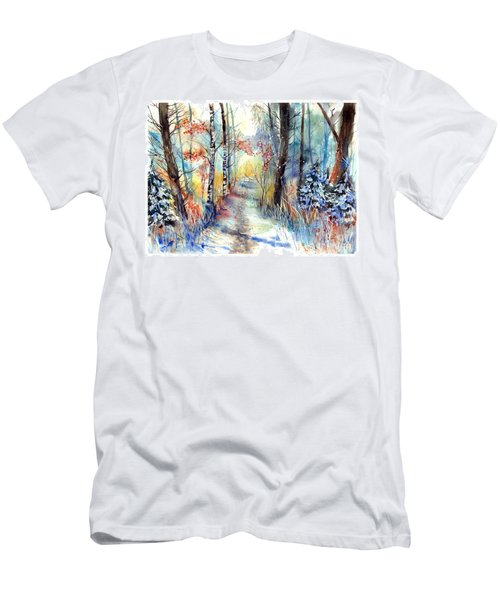 Frosty Blades Of Grass Men's T-Shirt (Athletic Fit)