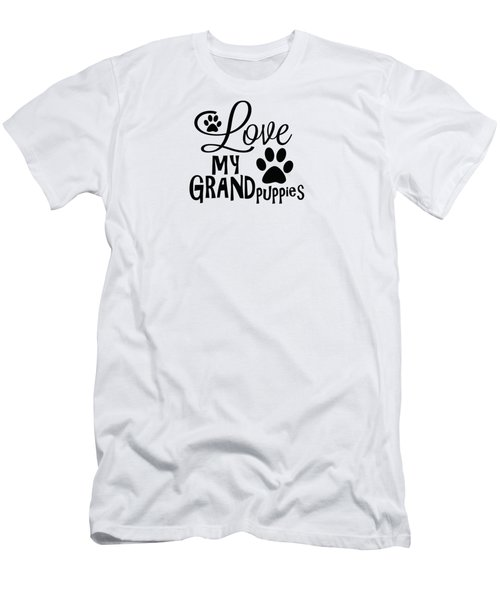 Fun Dog Gifts And Ideas Love My Grandpuppies Men's T-Shirt (Athletic Fit)