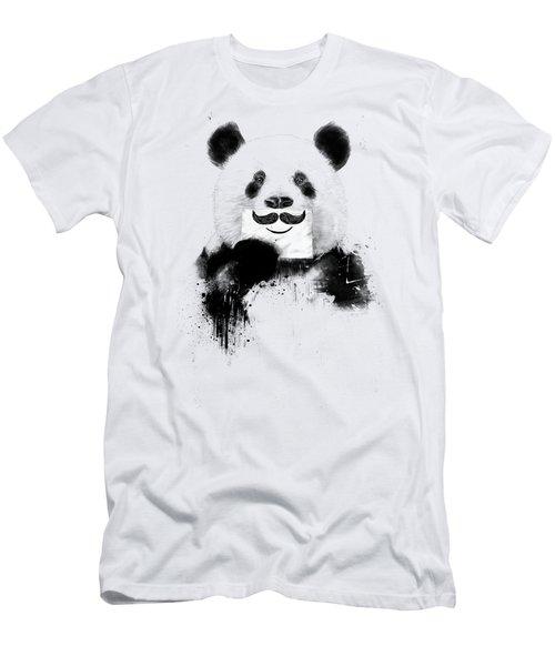 Funny Panda Men's T-Shirt (Athletic Fit)