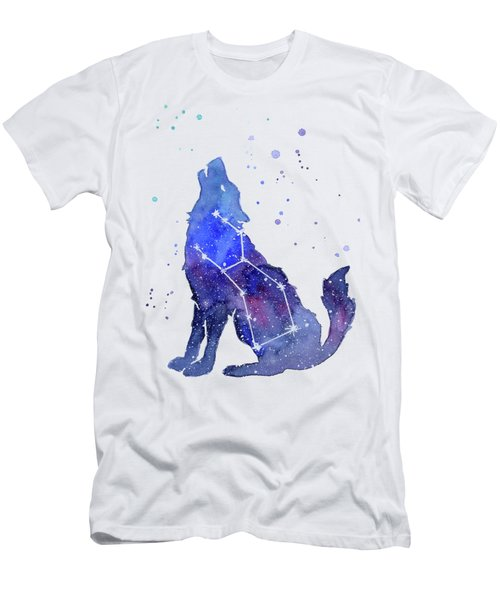 Galaxy Wolf - Lupus Constellation Men's T-Shirt (Athletic Fit)