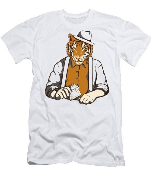 Gambling Tiger Men's T-Shirt (Athletic Fit)