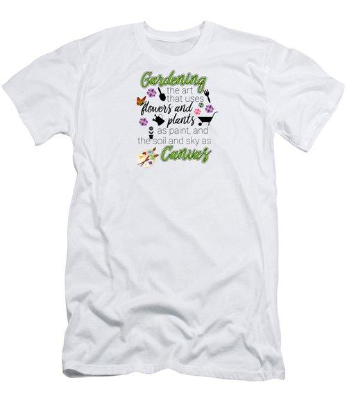 Garden Quotes Men's T-Shirt (Athletic Fit)