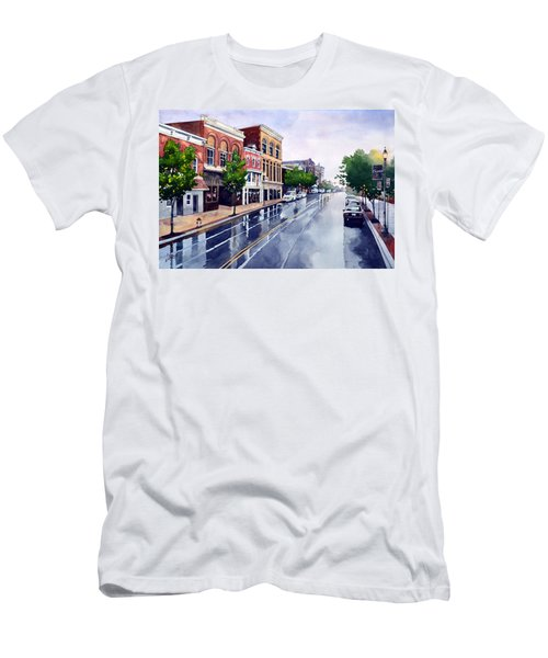 Gaslights And Afternoon Rain Men's T-Shirt (Athletic Fit)