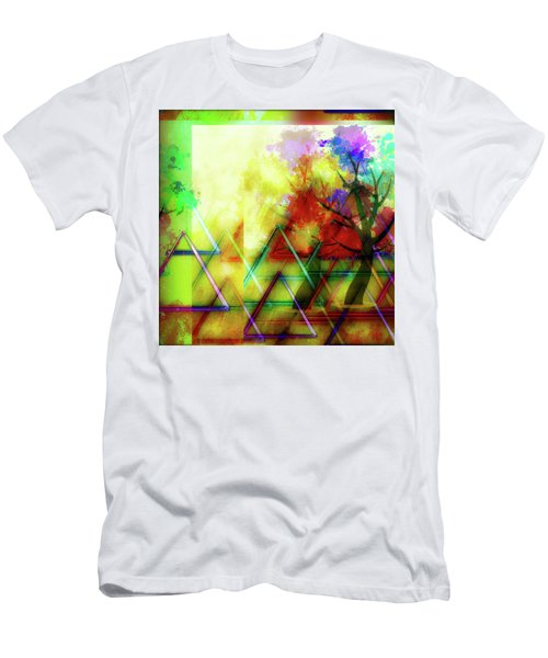 Geometric Abstract Men's T-Shirt (Athletic Fit)