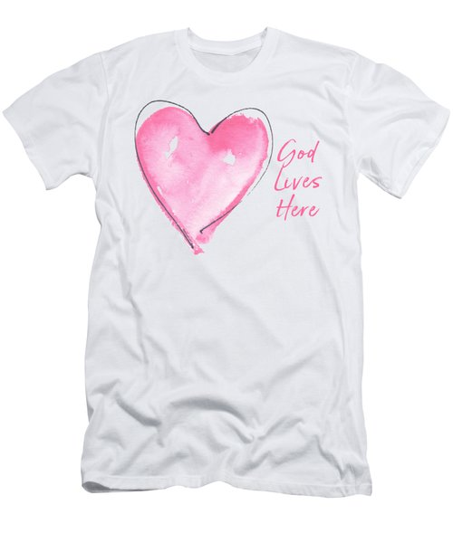 God Lives Here Men's T-Shirt (Athletic Fit)