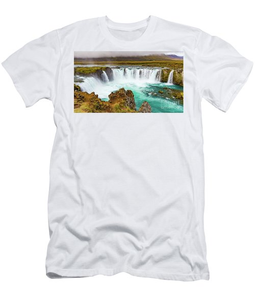 Godafoss Waterfall, Iceland Men's T-Shirt (Athletic Fit)