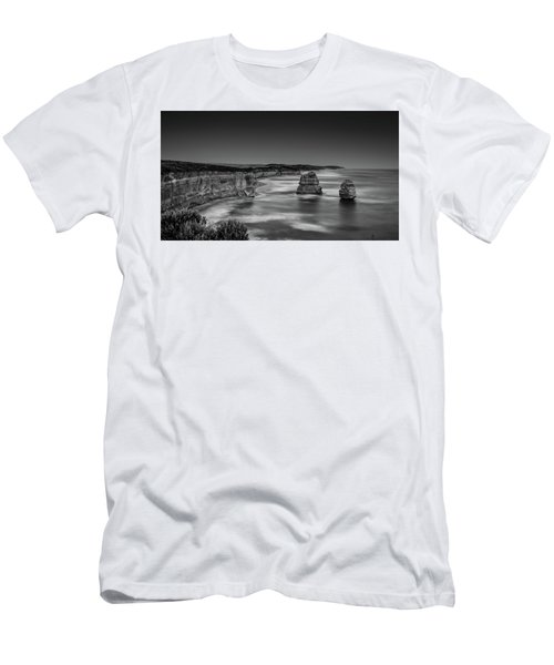 Men's T-Shirt (Athletic Fit) featuring the photograph Gog And Magog At The Twelve Apostles by Chris Cousins