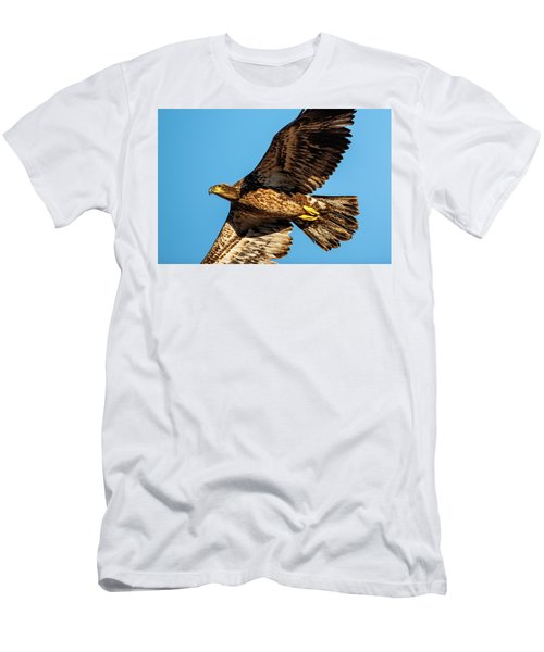 Men's T-Shirt (Athletic Fit) featuring the photograph Golden Eagle II by Jeff Phillippi