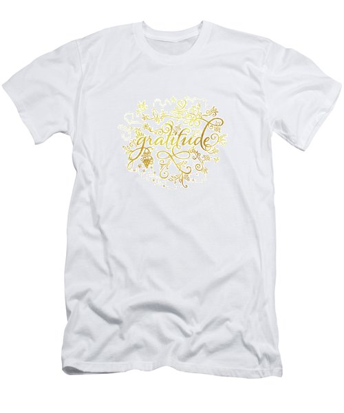 Golden Gratitude Men's T-Shirt (Athletic Fit)
