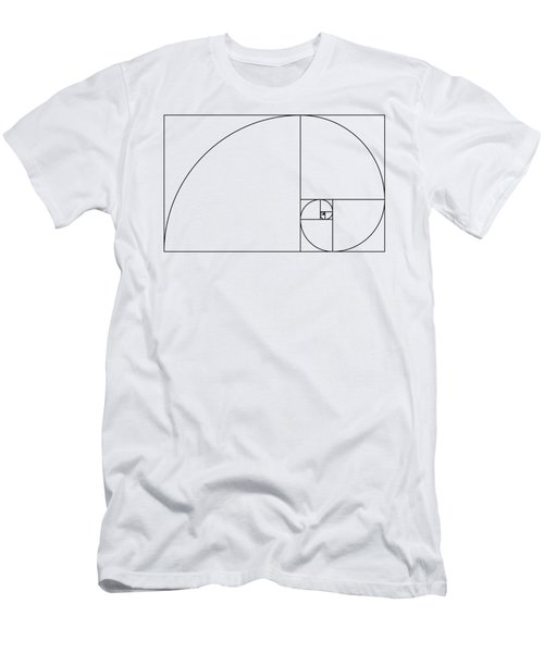 Golden Spiral Men's T-Shirt (Athletic Fit)
