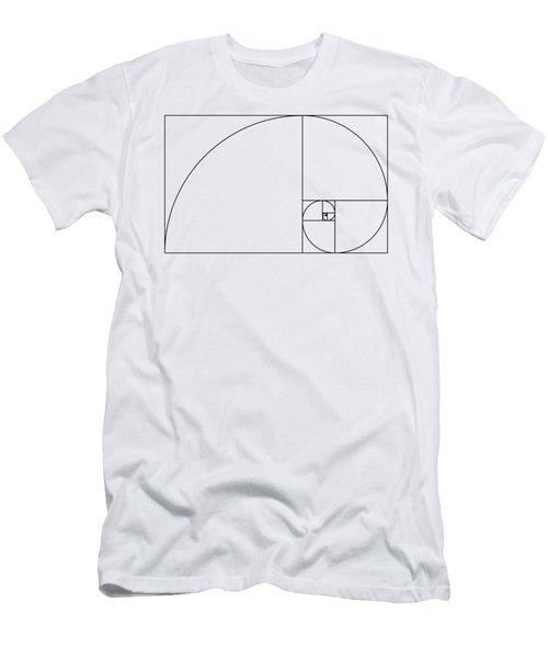 Golden Spiral Men's T-Shirt (Athletic Fit)