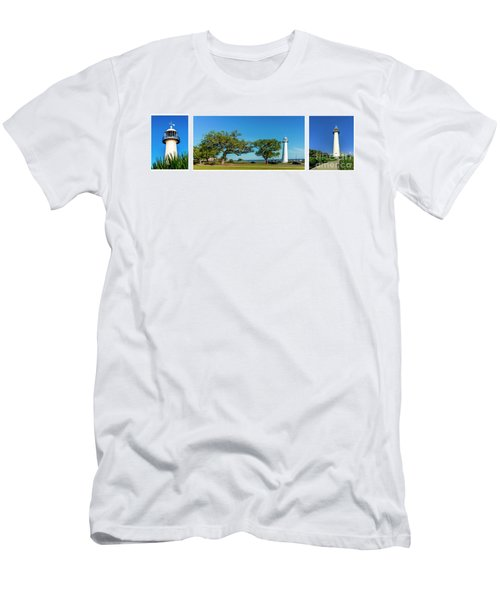 Grand Old Lighthouse Biloxi Ms Collage A1e Men's T-Shirt (Athletic Fit)