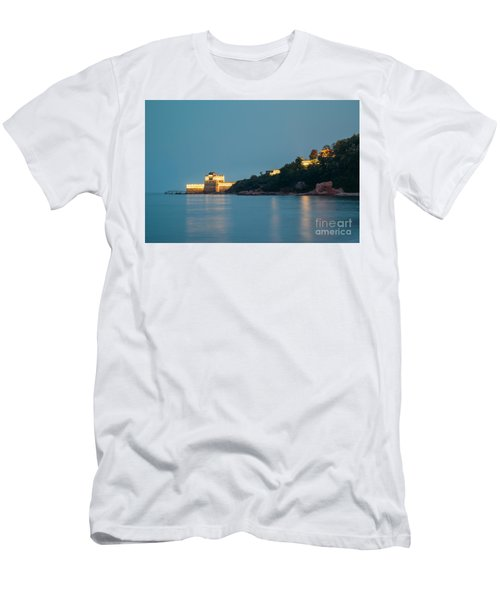 Great Wall At Night Men's T-Shirt (Athletic Fit)