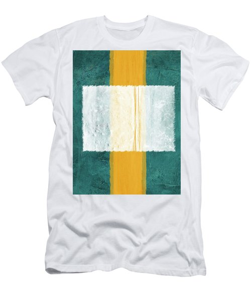 Green And Yellow Abstract Theme IIi Men's T-Shirt (Athletic Fit)
