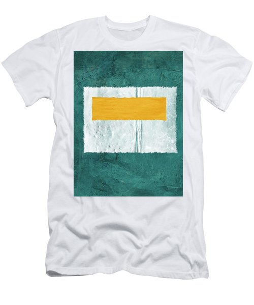 Green And Yellow Abstract Theme Iv Men's T-Shirt (Athletic Fit)