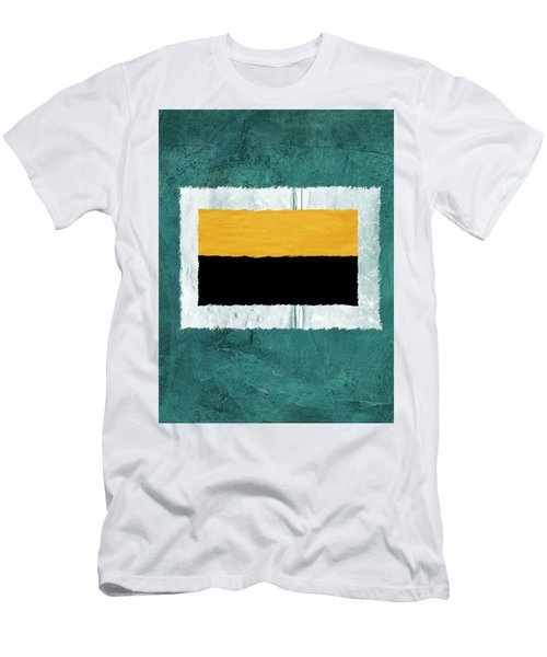 Green And Yellow Abstract Theme V Men's T-Shirt (Athletic Fit)