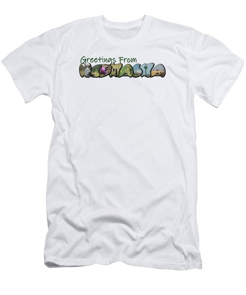 Greetings From Nebraska Big Letter Men's T-Shirt (Athletic Fit)