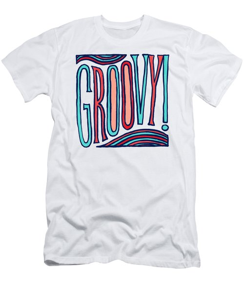 Groovy Men's T-Shirt (Athletic Fit)