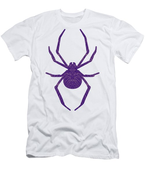 Men's T-Shirt (Athletic Fit) featuring the mixed media Halloween Spiders Creeping by Rachel Hannah