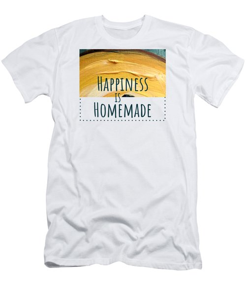 Men's T-Shirt (Athletic Fit) featuring the painting Happiness Is Homemade #2 by Maria Langgle
