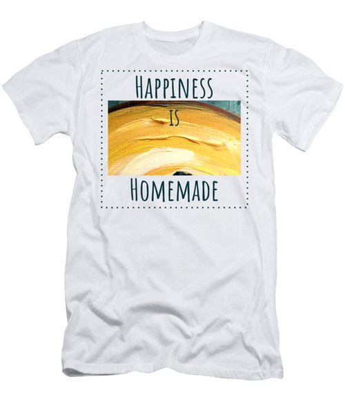 Men's T-Shirt (Athletic Fit) featuring the painting Happiness Is Homemade #3 by Maria Langgle