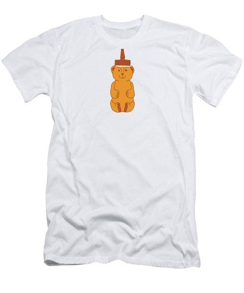 Happy Honey Bear Men's T-Shirt (Athletic Fit)