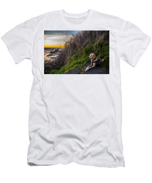 Men's T-Shirt (Athletic Fit) featuring the photograph Harris Beach Sunset by Matthew Irvin