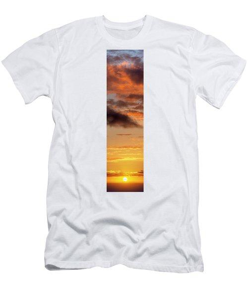 Hawaiian Sunset Vertical Panoramic  Men's T-Shirt (Athletic Fit)