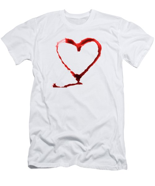 Heart Shape From Splaches And Blobs Men's T-Shirt (Athletic Fit)