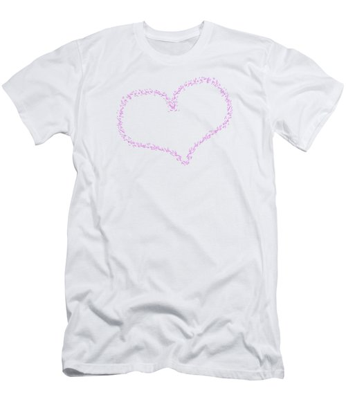 Heart Shaped Love Birds Men's T-Shirt (Athletic Fit)