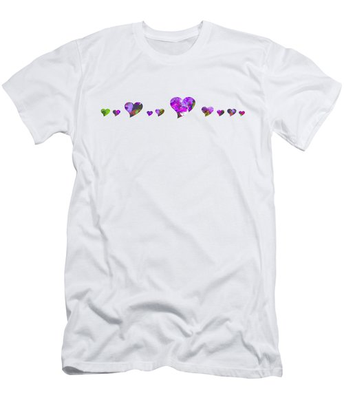 Hearts 1001 Men's T-Shirt (Athletic Fit)