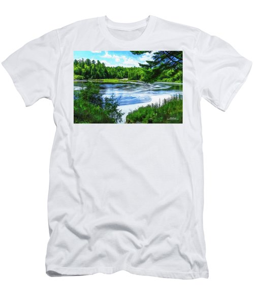 Men's T-Shirt (Athletic Fit) featuring the photograph Hiawatha's River by Mike Braun