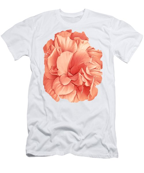 Hibiscus Rosa Double Petaled Peach Men's T-Shirt (Athletic Fit)