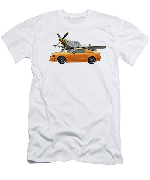 High Flyers - Mustang And P51 Men's T-Shirt (Athletic Fit)